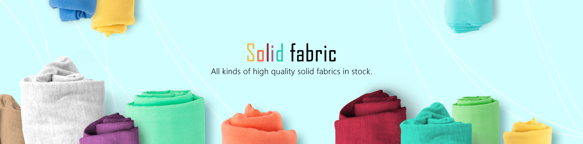 Solid fabric in stock