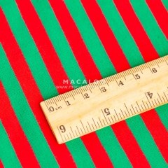 Christmas red and green cotton spandex yarn dyed stripe fabric