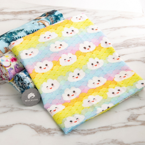 Custom printing cotton muslin double gauze fabric