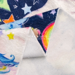 Unicorn plush minky fabric printing
