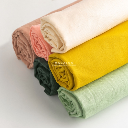 Solid color 100% linen fabric