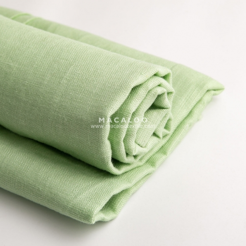 200gsm spearmint linen fabric