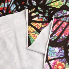 Custom digital printing poly double brushed fabric