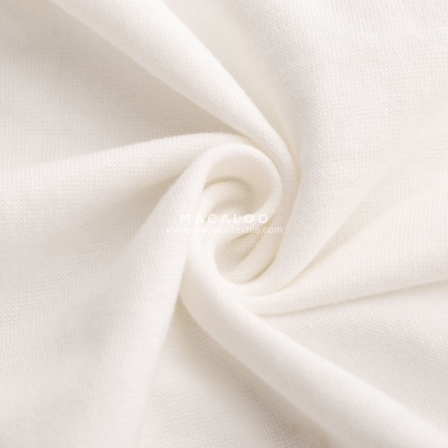 Solid 1x1 rib knitting cotton spandex interlock fabric