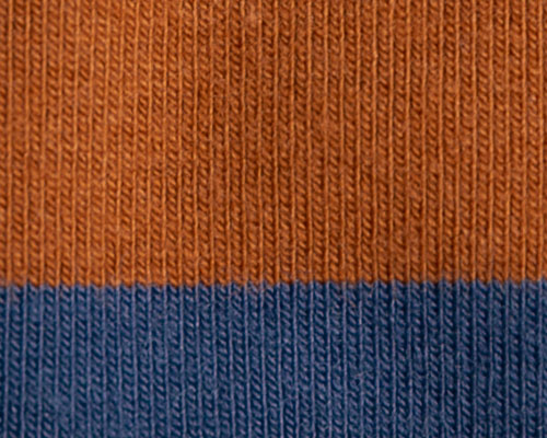 Yarn Dyed Stripe Single Jersey Knit Fabric Navy And Brown
