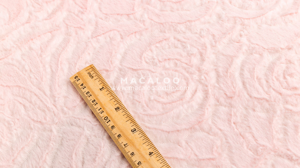 Soft floral embossed minky plush fabric