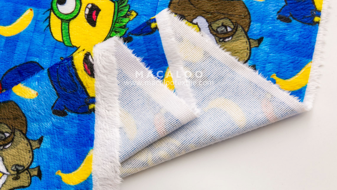 Digital Printed Cuddle Minky Fabric For Blanket