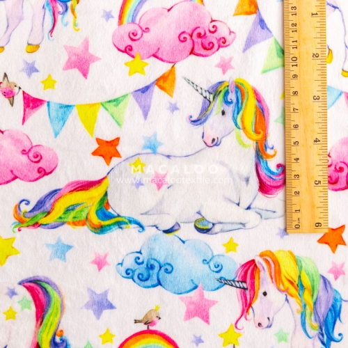 Print 100% polyester plush minky fabric for baby cuddle blanket