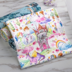 Custom printed 100% cotton double gauze fabric for baby