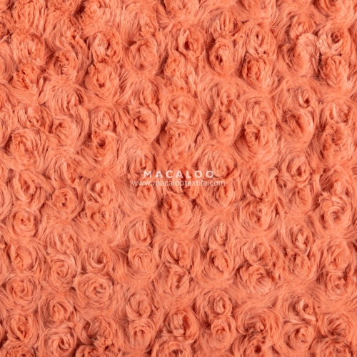 340gsm rose swirl knit 100 polyester minky blanket fabric wholesale