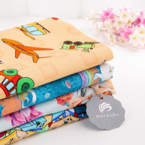 Digital printing canvas cotton woven canvas fabric for bag