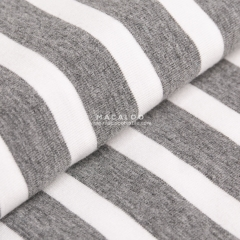 Knit stripes custom color dyed yarn cotton spandex fabric