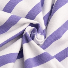 Soft cotton elastance stripe jersey fabric for clothing
