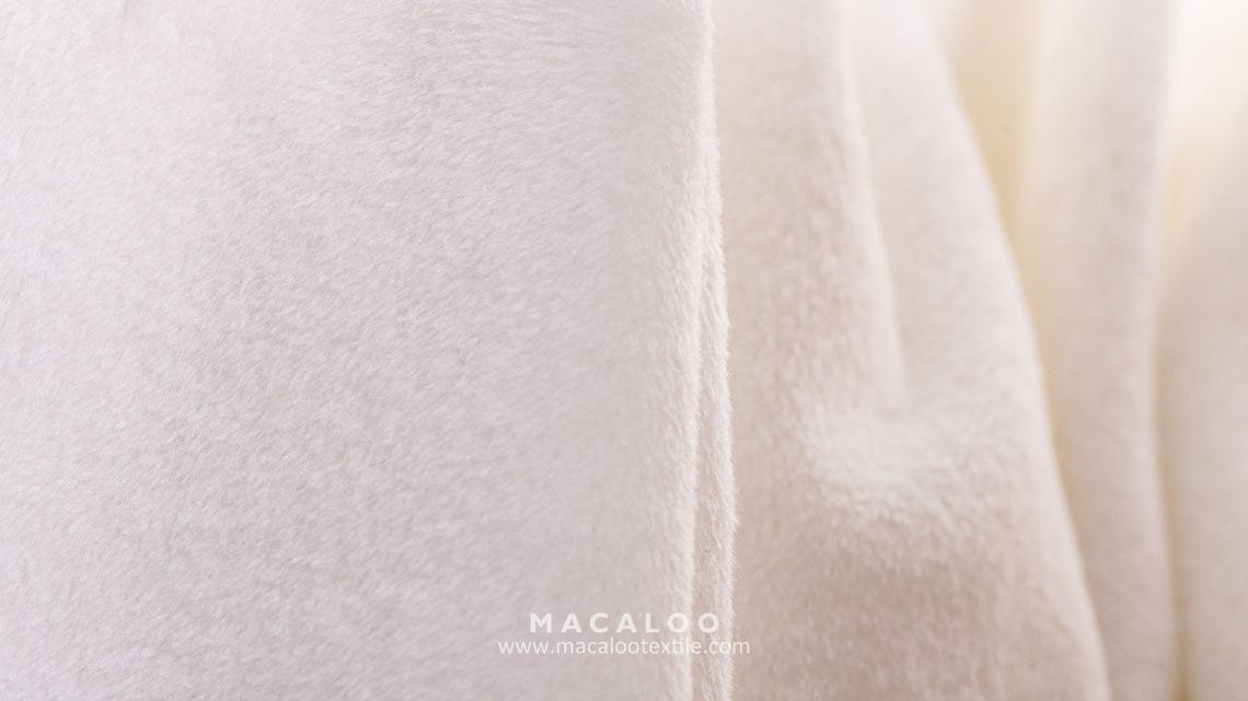 Brushed Polyester Spandex Velvet Fleece Fabric