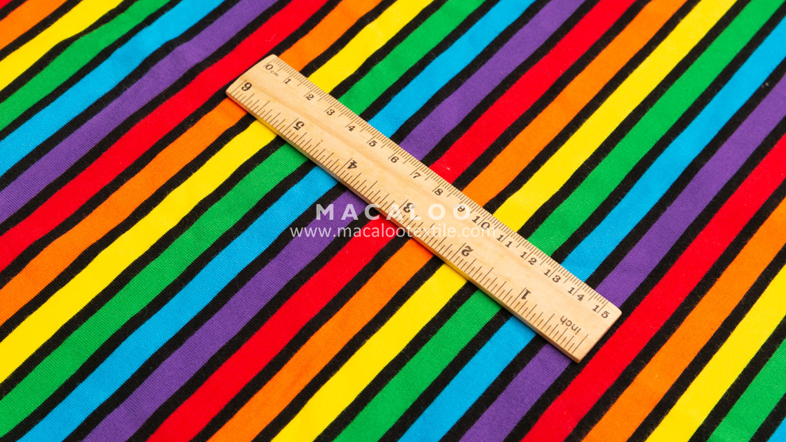 rainbow stripe cotton fabric