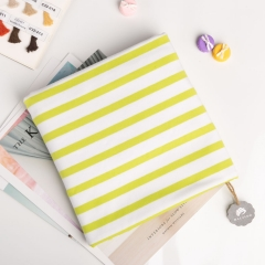 Chartreuse stripes knitting cotton spandex fabric