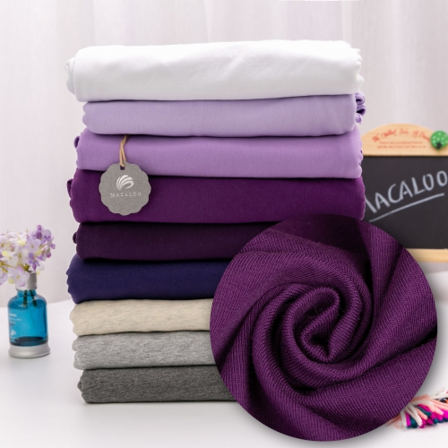 Single jersey knit cotton spandex fabric violet