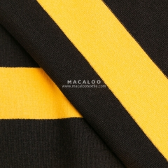 Custom stripes Knitted dyed yarn fabric cotton lycra jersey