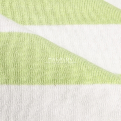 China Textile cotton spandex yarn dyed striped jersey knit fabric