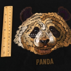 Panda printed cotton lycra fabric custom fabric wholesale