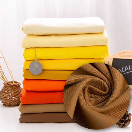 Wholesale cotton spandex jersey knit fabric latte