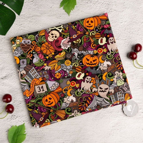 Halloween 95 cotton 5 spandex digital knitted fabric printing for baby