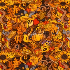 Cotton lycra fabric digital printing wholesale for Thanksgiving