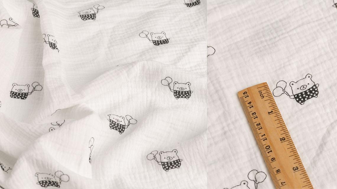 1 Yard Moq Printed 100 Cotton Muslin Fabric For Baby Wrap