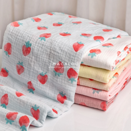 Wholesale organic 100% cotton gauze muslin fabric
