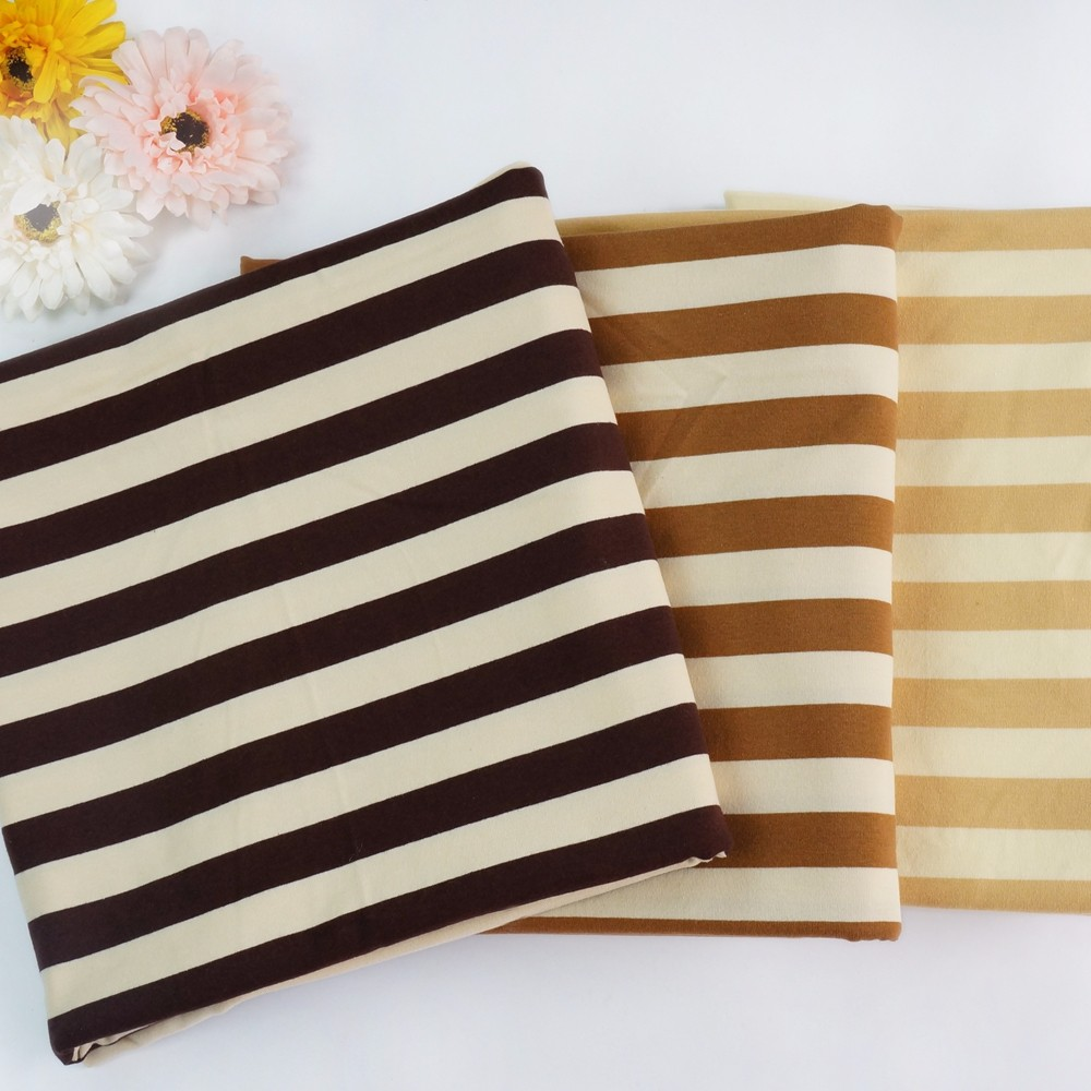 100% cotton knitted stripe jersey fabric