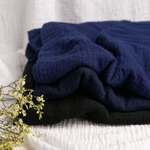Dark Blue Series organic cotton double muslin gauze fabric for baby blanket