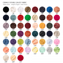 Must-to-buy crinkle double gauze cotton wholesale muslin fabric for infant clothing