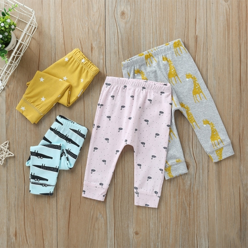 Wholesale spring/autumn season cartoon printed cotton legging pants for baby