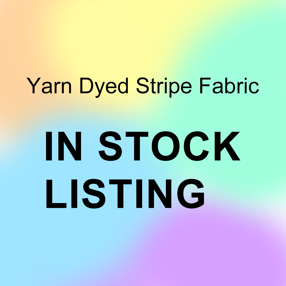 Instock yarn dyed stripe cotton spandex knit fabric
