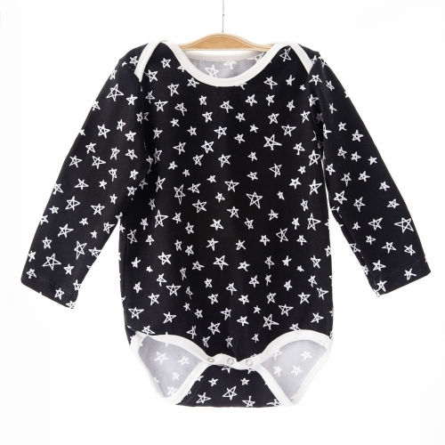 r boutique black backdrop star digital print baby boys birthday outfit long sleeve cotton body suit rompers