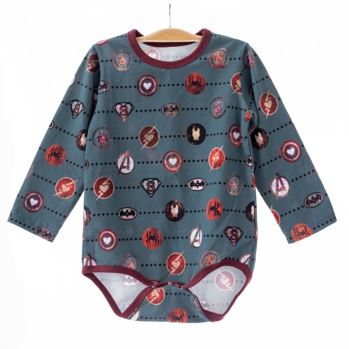 soft touch superhero pattern digital print baby boutique jumpsuit knitted toddler boys long sleeve rompers