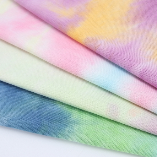 MCCD0032# 320gsm French Terry Tie-Dyed Fabirc in stock