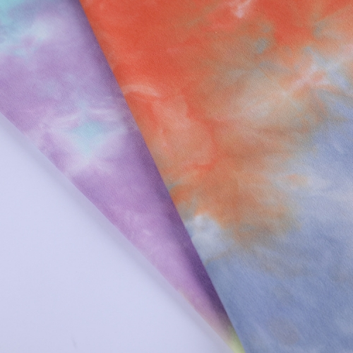 MCCD220# 250gsm French Terry Tie-Dyed Fabirc in stock