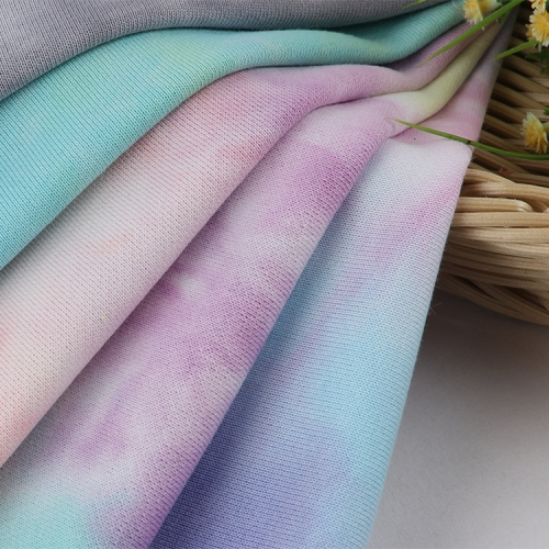 MCCD668# 300gsm French Terry Tie-Dyed Fabirc in stock