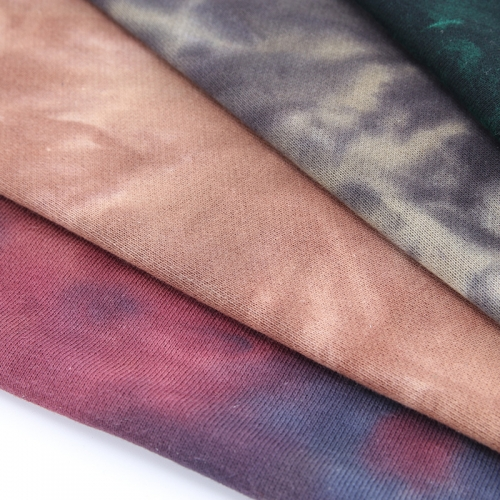 MCCD097# 300gsm French Terry Tie-Dyed Fabirc in stock