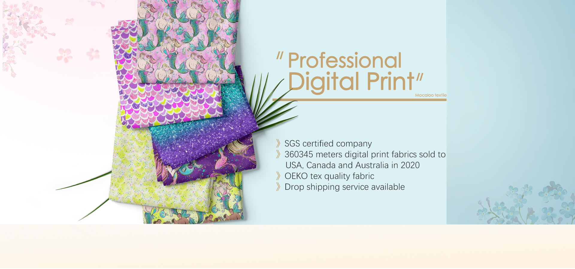 Macaloo specialized in custom digital printed fabric