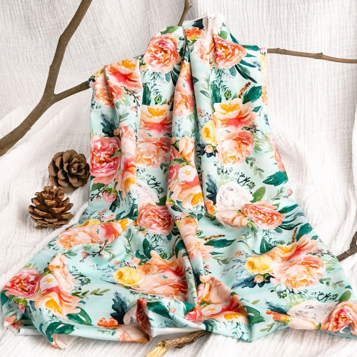 China textile soft touch high quality floral custom accept printing cotton lycra fabric for dress