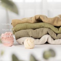 100% soft lightweight solid color pure cotton new fashion baby muslin swaddle blanket